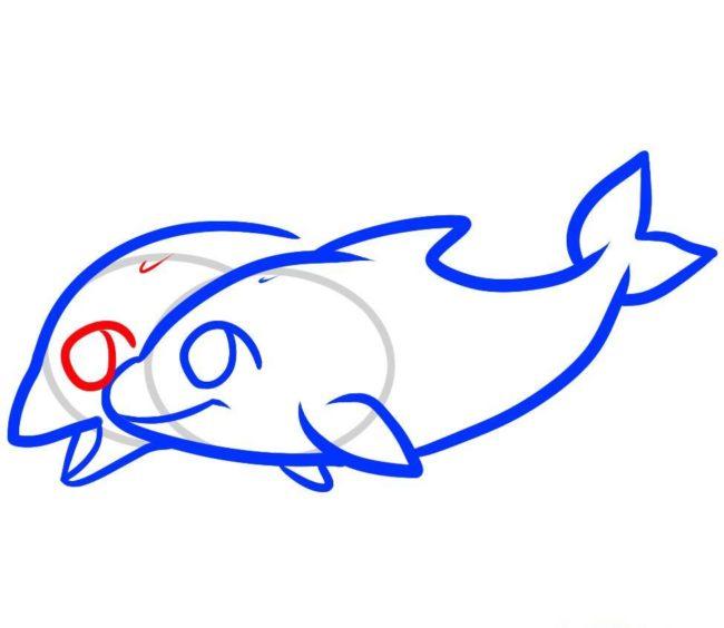 Дельфін малюнок