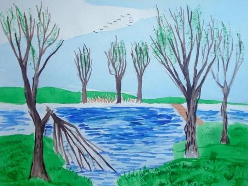 Малюнок як намалювати весну