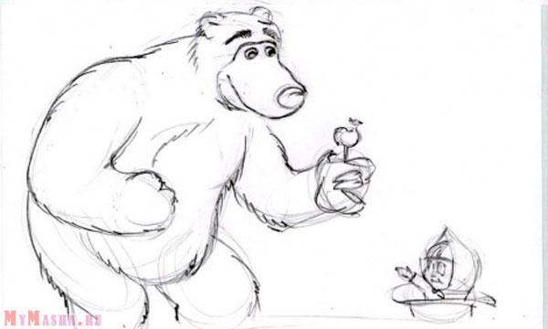 Маша і Ведмідь малюнок