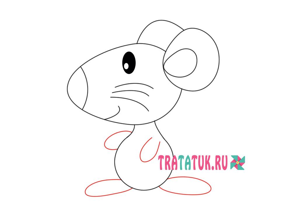 Як намалювати мишу