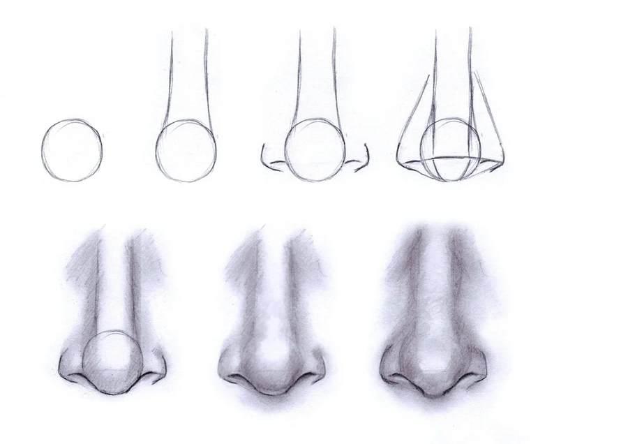 Як легко намалювати ніс