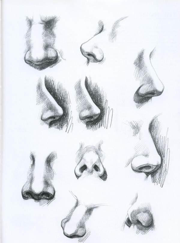 Як правильно малювати ніс