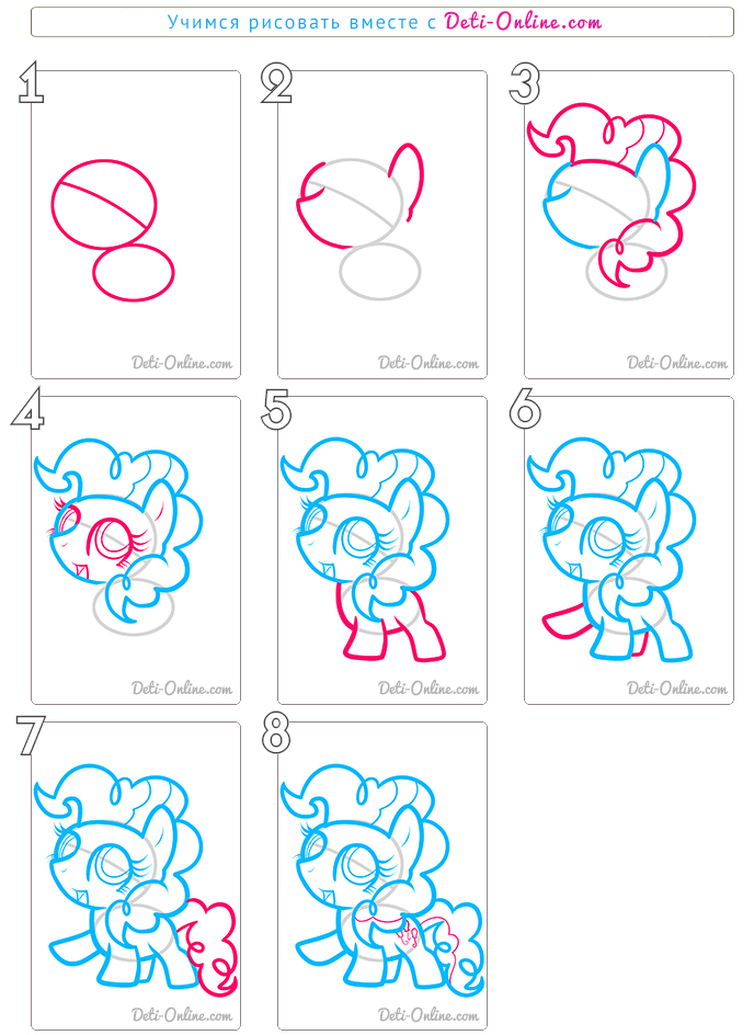Як правильно намалювати поні