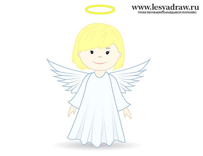 Як намалювати ангела для дітей