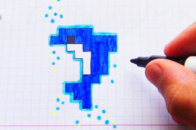 Як намалювати дельфіна по клітинках