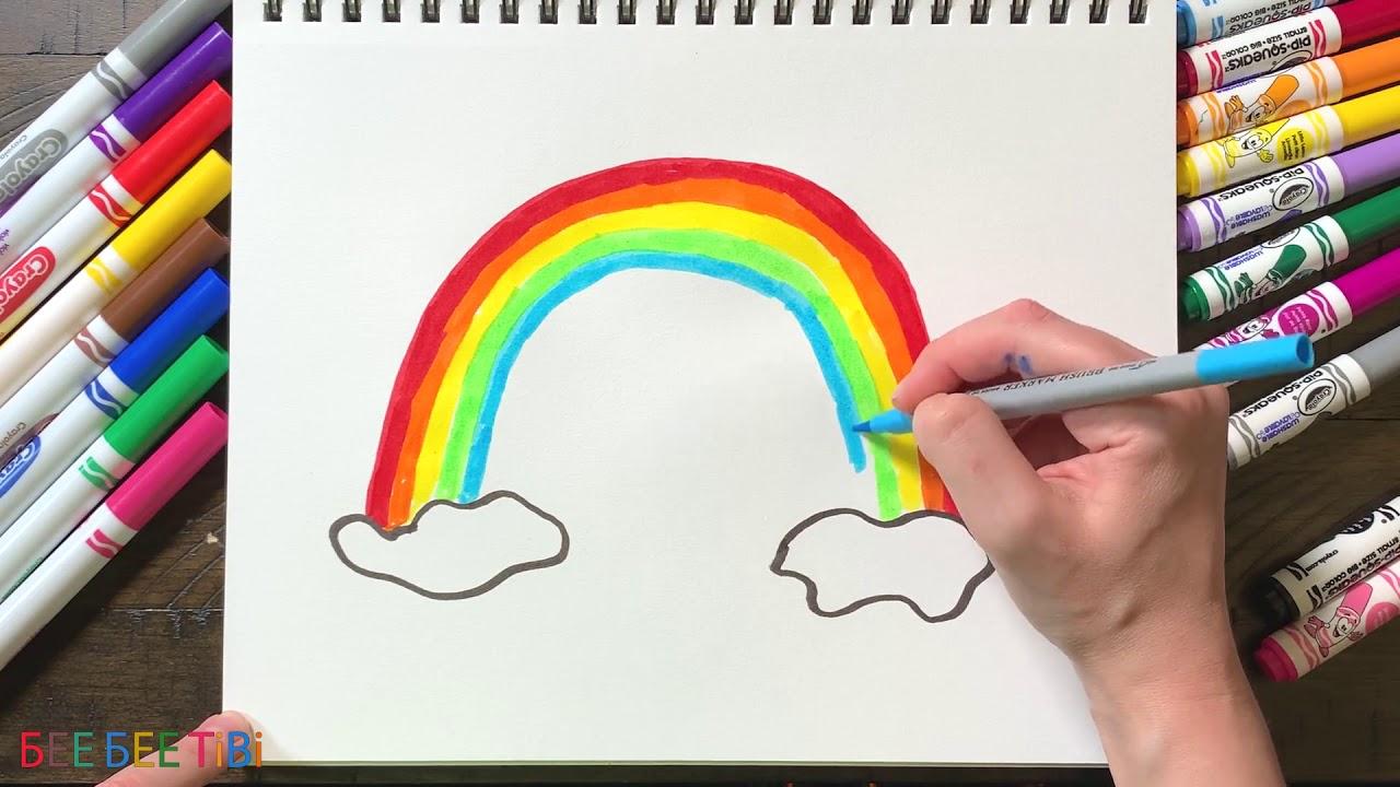 Як намалювати веселку