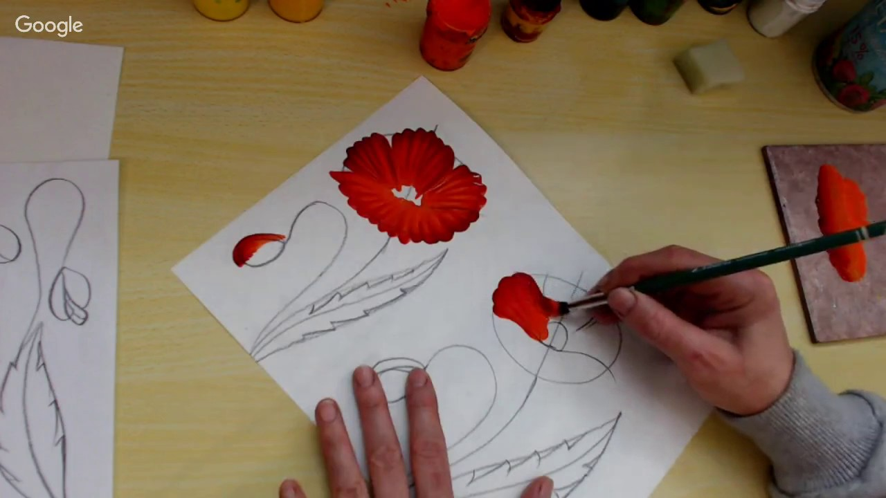 Як намалювати мак