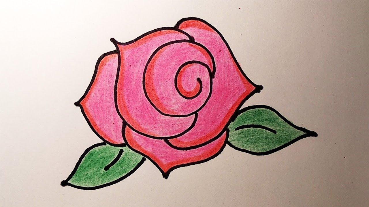 Як намалювати розу