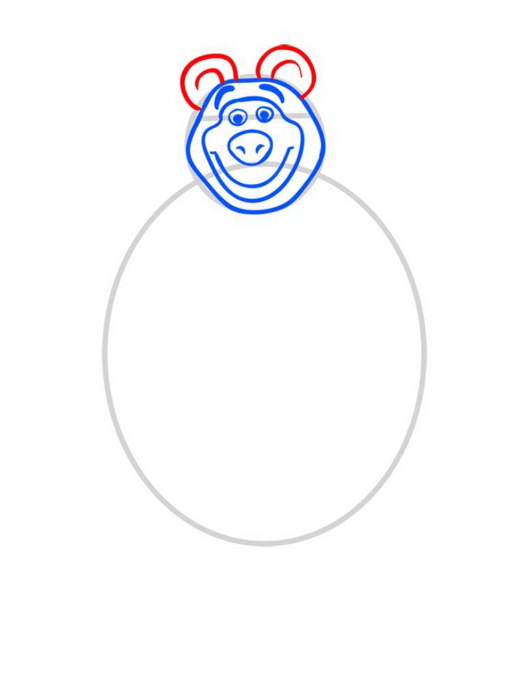 Зразок як намалювати ведмедя