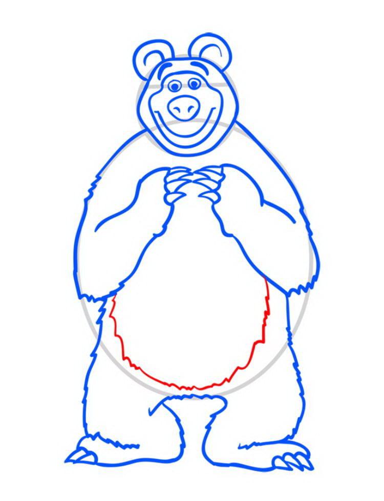 Малюнок ведмедя