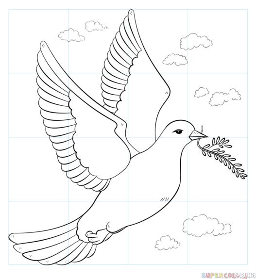 Як намалювати голуба миру