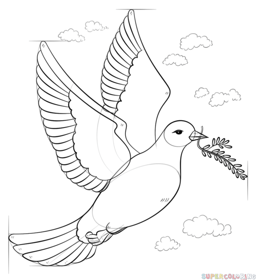 Малюнок голуба