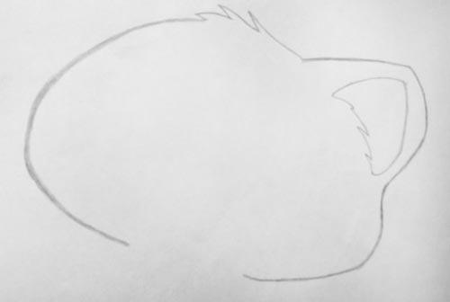 Малюємо голову і вушко