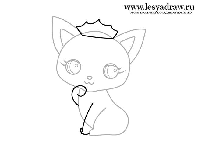 Як намалювати милу кішечку