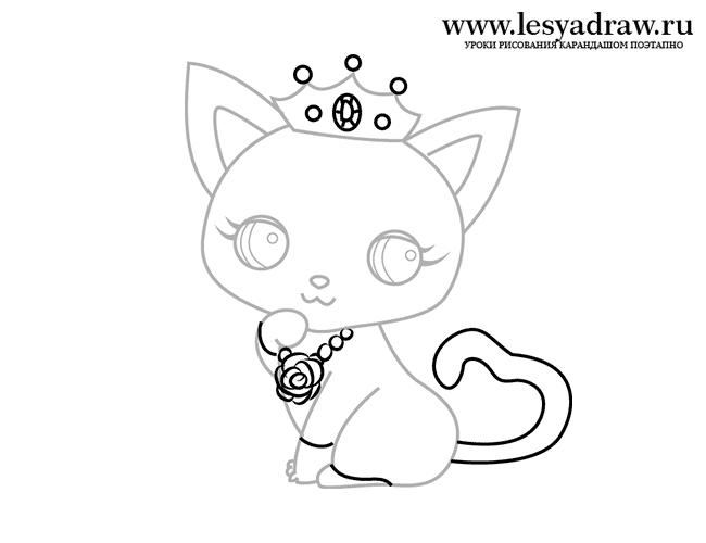 Малюнок милої кішечки