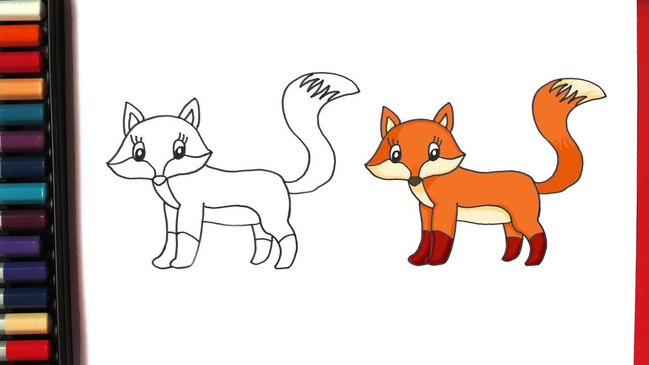 Як намалювати лисицю