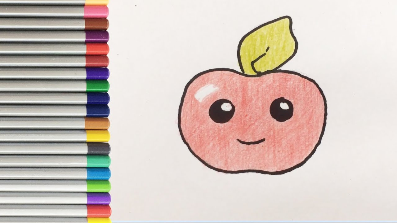 Як намалювати яблуко
