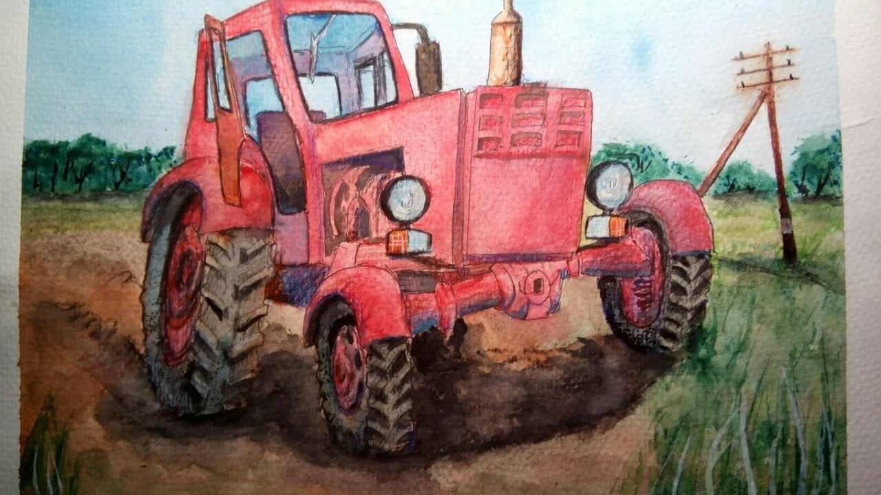 Як намалювати трактор