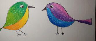 Як намалювати птаха