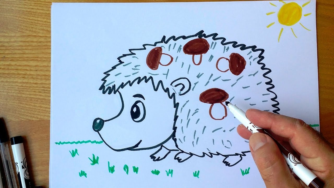Як намалювати їжака