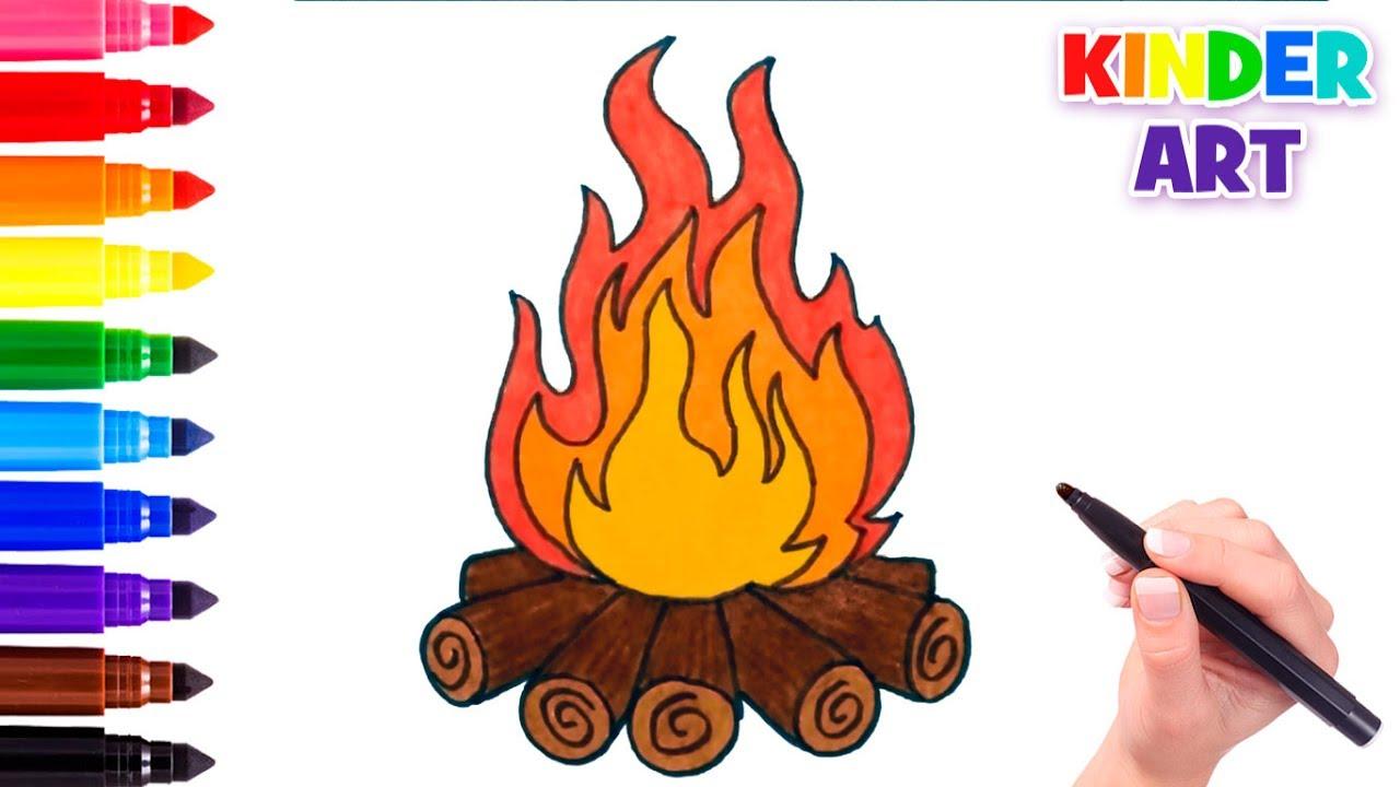 Як намалювати вогонь