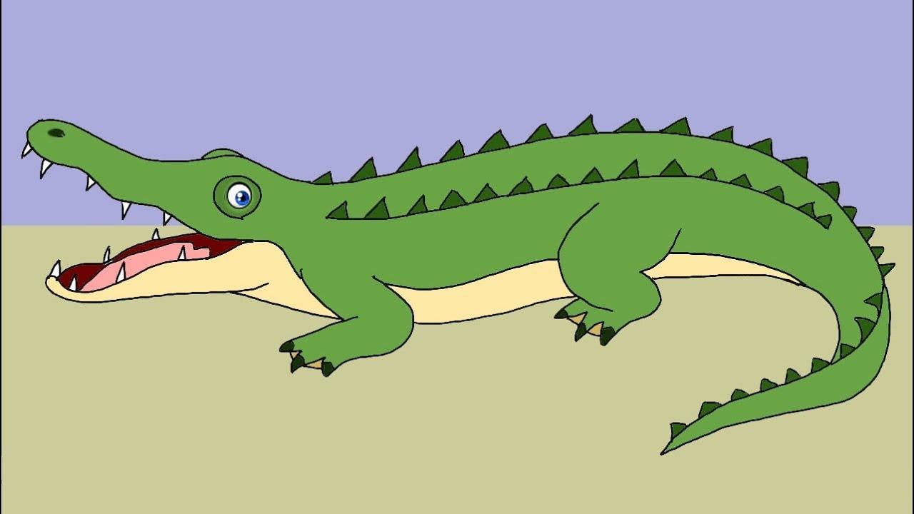 Як намалювати крокодила